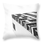 Monochrome Building Abstract 4 Throw Pillow