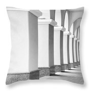 Monochrome Building Abstract 6 Throw Pillow