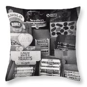Monochrome Candy Throw Pillow