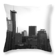 Monochrome City Throw Pillow