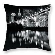 Monochrome Cleveland Throw Pillow