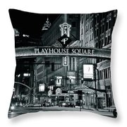 Monochrome Grayscale Palyhouse Square Throw Pillow