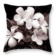 Monochrome Hawaii No. 3 Throw Pillow
