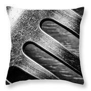 Monochrome Kitchen Fork Abstract Throw Pillow