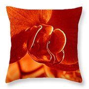 Monochrome Orchid Throw Pillow