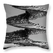 Monochrome Spiral Throw Pillow