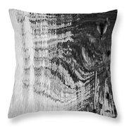 Monochrome Water Throw Pillow