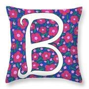 Monogram B Throw Pillow