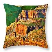 Monolith North Rim Grand Canyon Throw Pillow