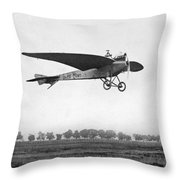 Monoplane, 1910 Throw Pillow