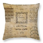 monopoly Board Game 1935 Throw Pillow