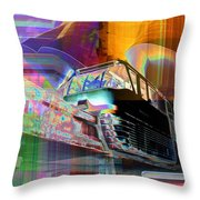 Monorail And Emp Throw Pillow