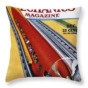 Monorail, C1940 Throw Pillow
