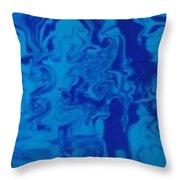 Monotone Blue Throw Pillow