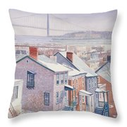 Monroe St Staten Island Throw Pillow