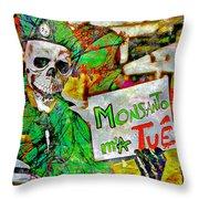 Monsanto Killed Me Throw Pillow