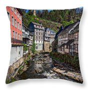 Monschau Village View Throw Pillow
