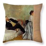 Monsieur And Madame Edouard Manet Throw Pillow