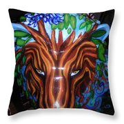 Monsieur De Lioncourt Throw Pillow by Genevieve Esson