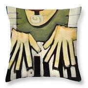 Monsieur Keys Sans Keyboard Extension Throw Pillow