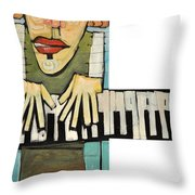 Monsieur Keys Throw Pillow