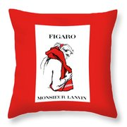 Monsieur Throw Pillow