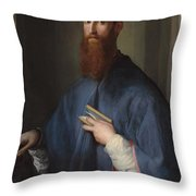 Monsignor Della Casa Throw Pillow