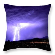 Monsoon Over Sedona Throw Pillow