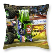 Monster Jam 2 Throw Pillow