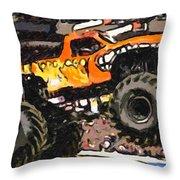 Monster Jam El Toro Loco Throw Pillow