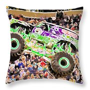 Monster Jam Orlando Fl Throw Pillow
