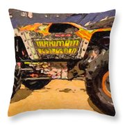 Monster Jam Party In The Pits Throw Pillow