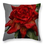 Monster Red Flower Throw Pillow