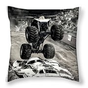 Monster Truck 1b Throw Pillow