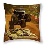 Monster Truck 2a Throw Pillow