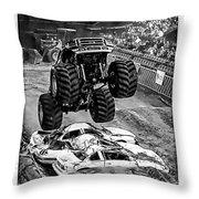 Monster Truck 2b Throw Pillow