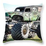 Monster Truck 4 Throw Pillow