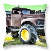 Monster Truck - Grave Digger 3 Throw Pillow