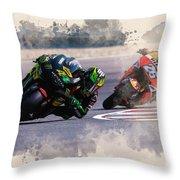 Monster Yamaha Throw Pillow
