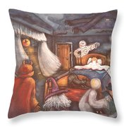 Monsters In My Room Throw Pillow
