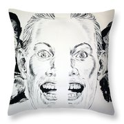 Monsters Then And Now Throw Pillow