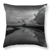 Mont Bw Throw Pillow