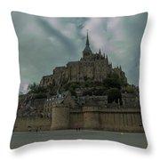 Mont Saint Michel 1 Throw Pillow