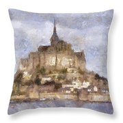 Mont Saint-michel, Normandy, France Throw Pillow