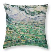 Montagne Sainte Victoire Throw Pillow