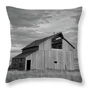 Montana Barn Memories Throw Pillow