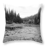 Montana Creek Bend Throw Pillow