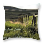 Montana Dream Throw Pillow