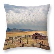 Montana Farmyard Throw Pillow