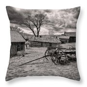 Montana Ghost Town Throw Pillow